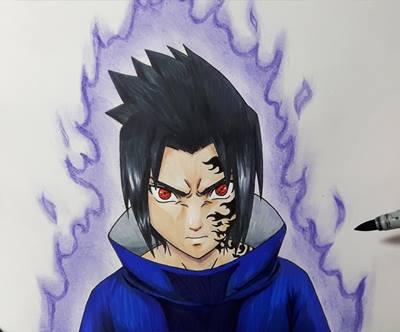 gambar lukisan sasuke-1
