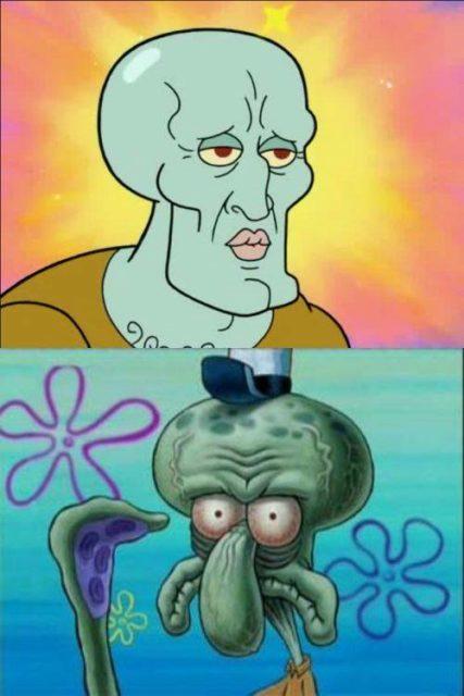 gambar meme squidward 4