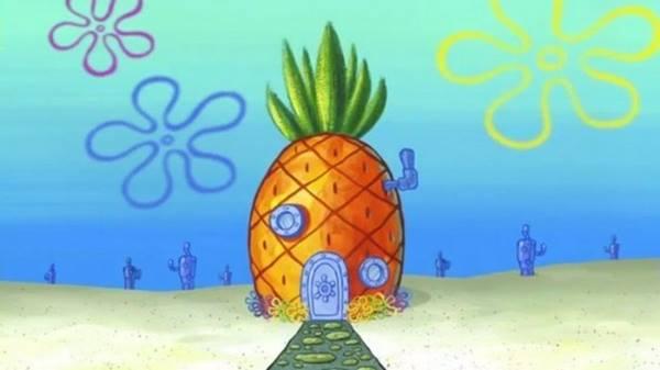 gambar rumah spongebob squarepants