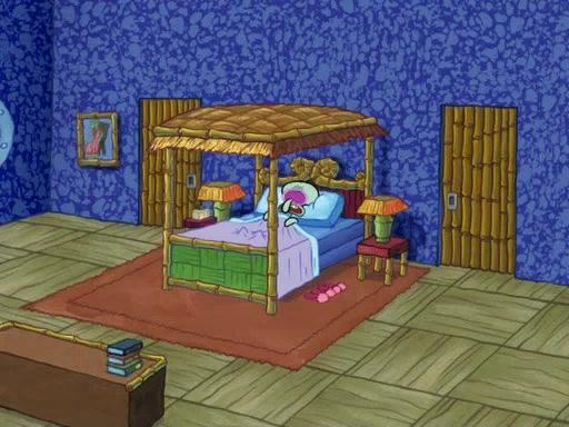 gambar rumah squidward tentacles kamar tidur