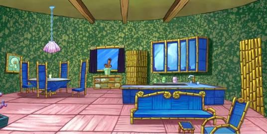 gambar rumah squidward tentacles ruang tamu