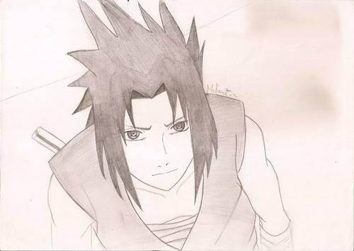 gambar sasuke pensil 1
