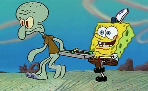 gambar spongebob dan squidward 2