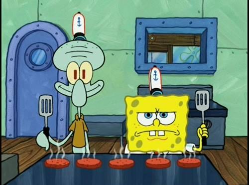gambar spongebob dan squidward 3