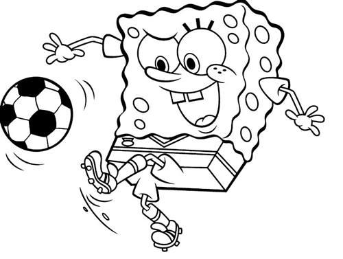 gambar spongebob hitam putih 4