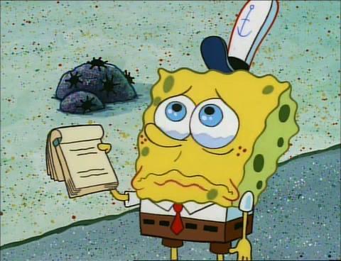 gambar spongebob sedih 1