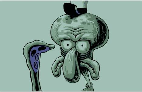 wallpaper squidward 3