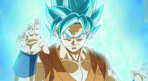 gambar goku super saiyan blue 1