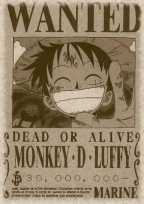 poster buronan luffy 1