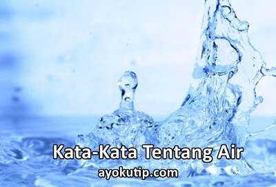 kata-kata tentang air