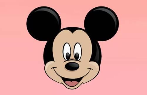 gambar kepala mickey mouse 1