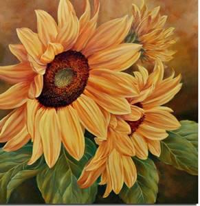 lukisan bunga matahari 1